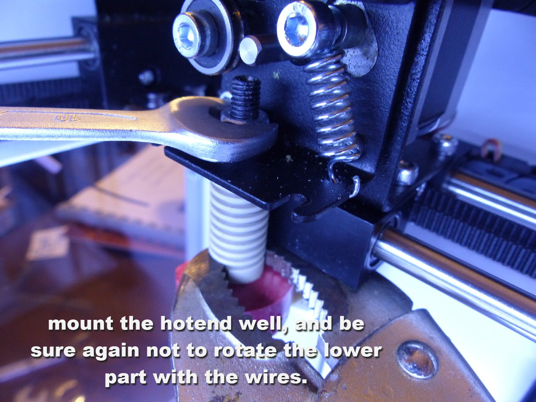 mini-17 mount and hold hotend