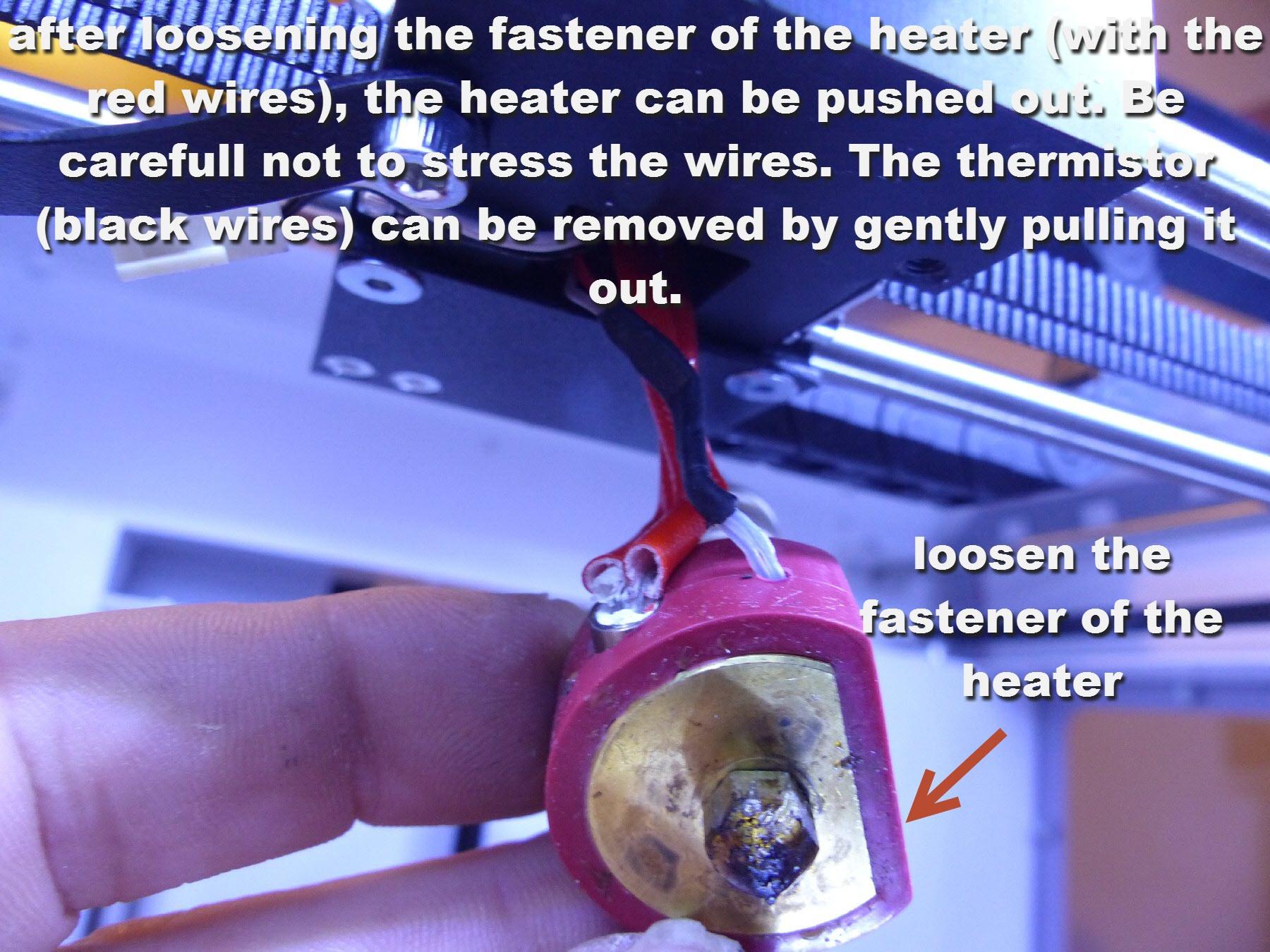 mini-6 dissasembled heater