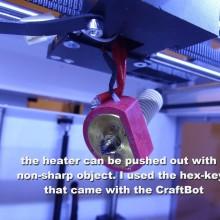 CraftBot: als de extruder volledig verstopt is…