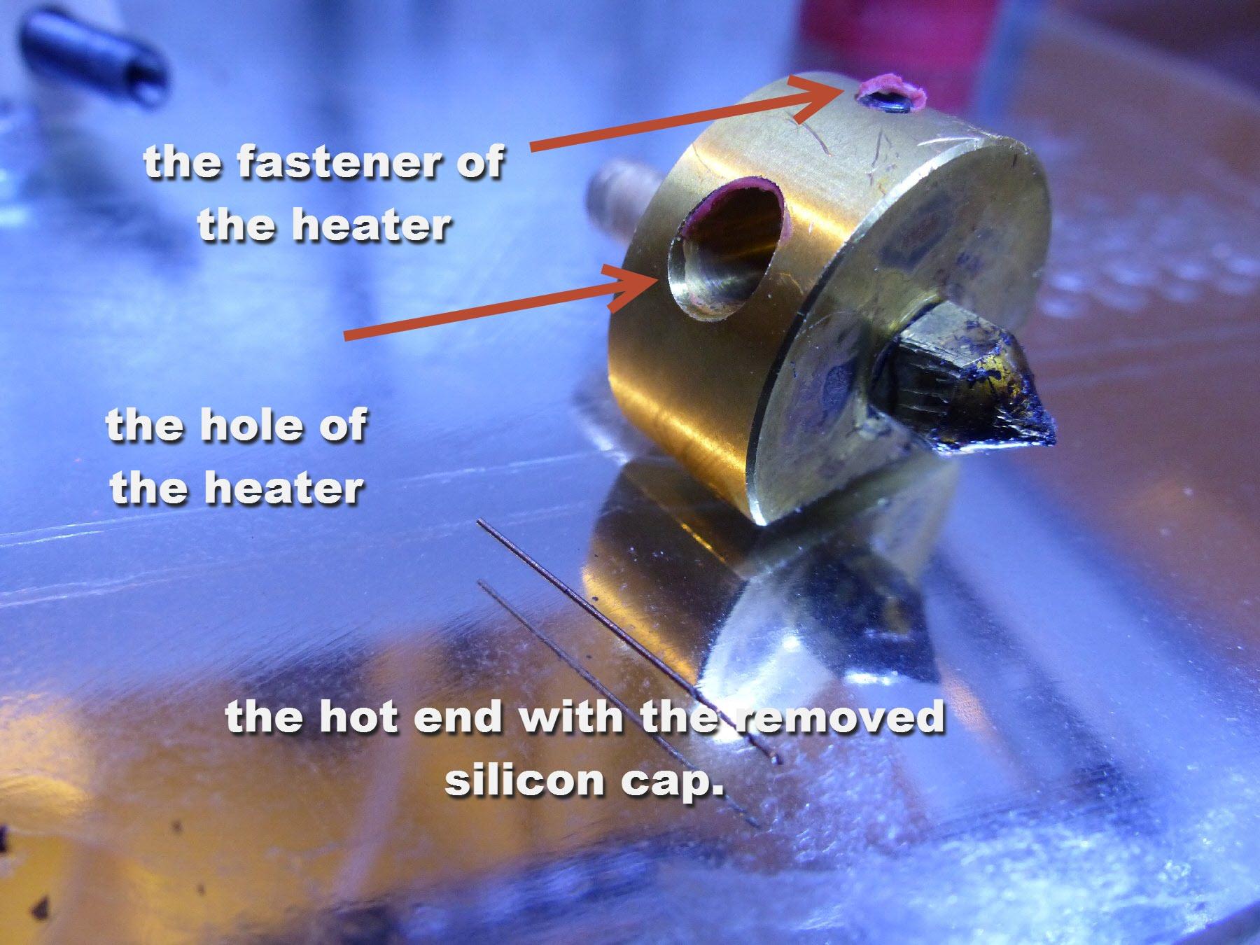 mini-7b unscrew heater and push