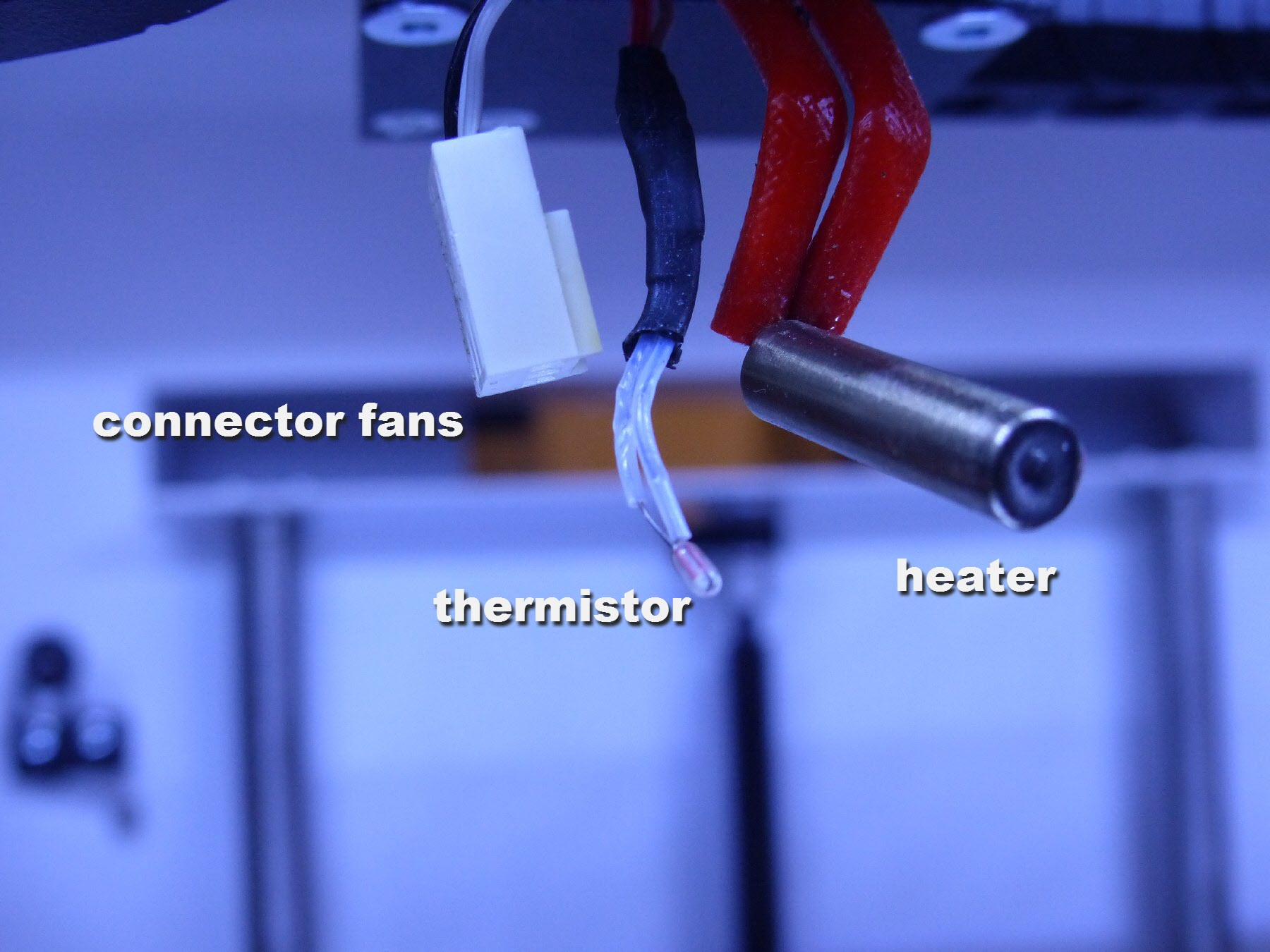 mini-8 heater and thermistor