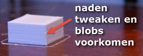 CraftWare: naden tweaken en Blobs voorkomen, Tips!