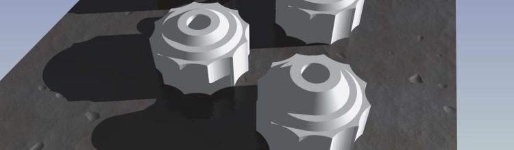 Betere knoppen voor het printbed, nu met aandraai tool!