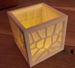 TinkerCad tutorial door Margriet voor een Voronoi theelichtje
