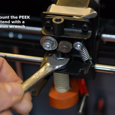 10 unmount the hotend with a 10mm wrench