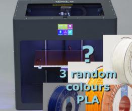 Tijdelijk bij de Antraciete CraftBot PLUS: 3 Rollen filament!