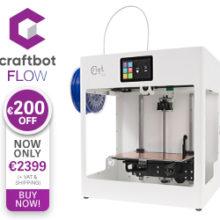 200 euro korting op de  CraftBot Flows tot 2021!
